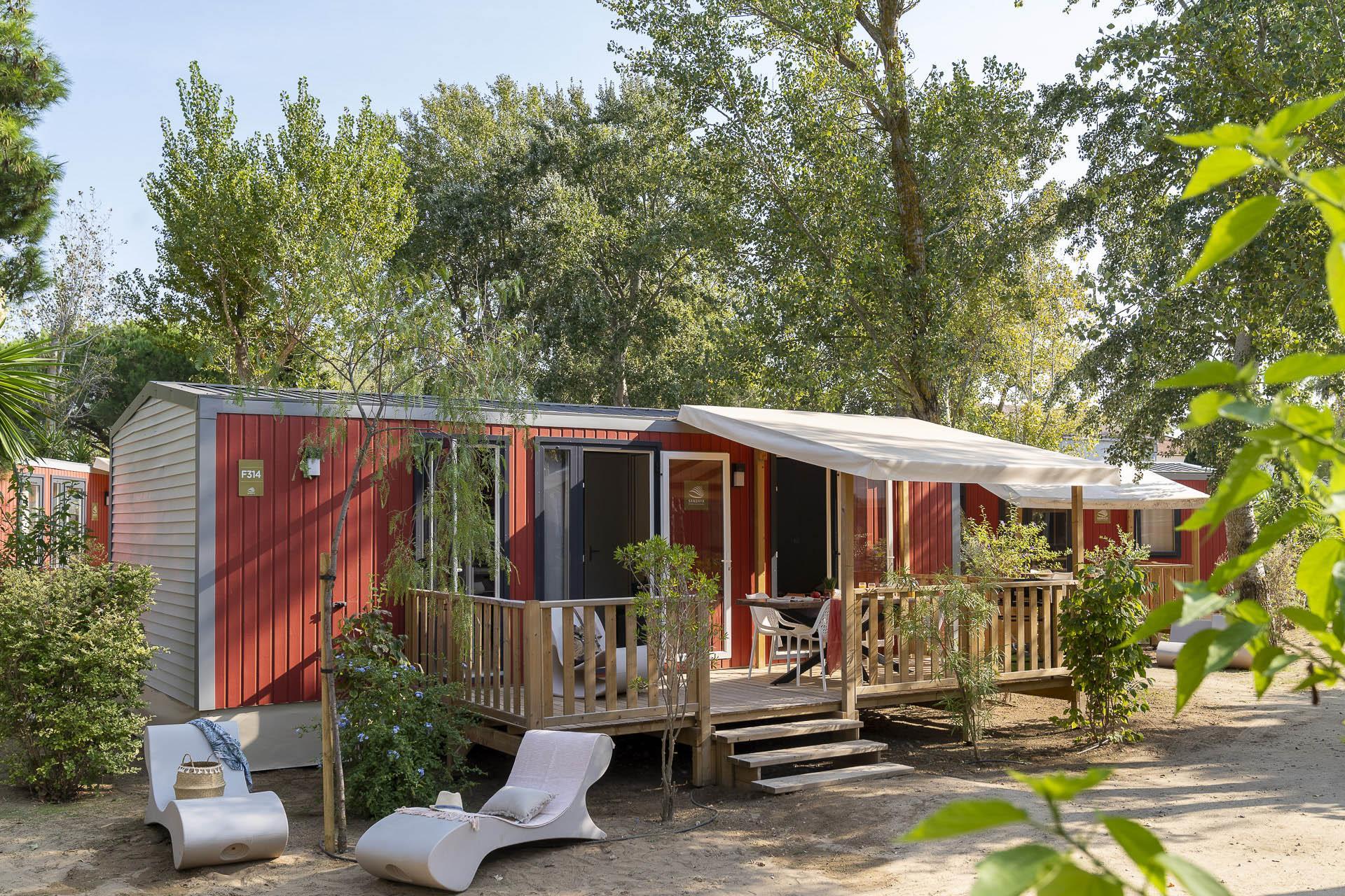 Location - Cottage Carmin 2 Chambres Climatisé Premium - Camping Sandaya Blue Bayou