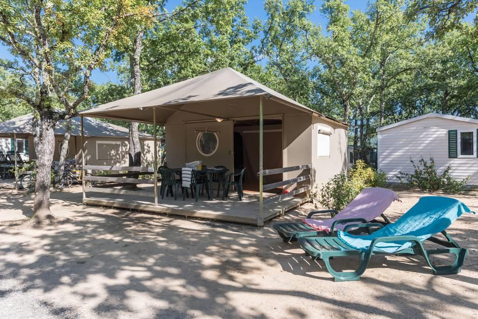Accommodation - Sunlodge Tente Lodge 2 Bedrooms - Camping Sunêlia Aluna Vacances