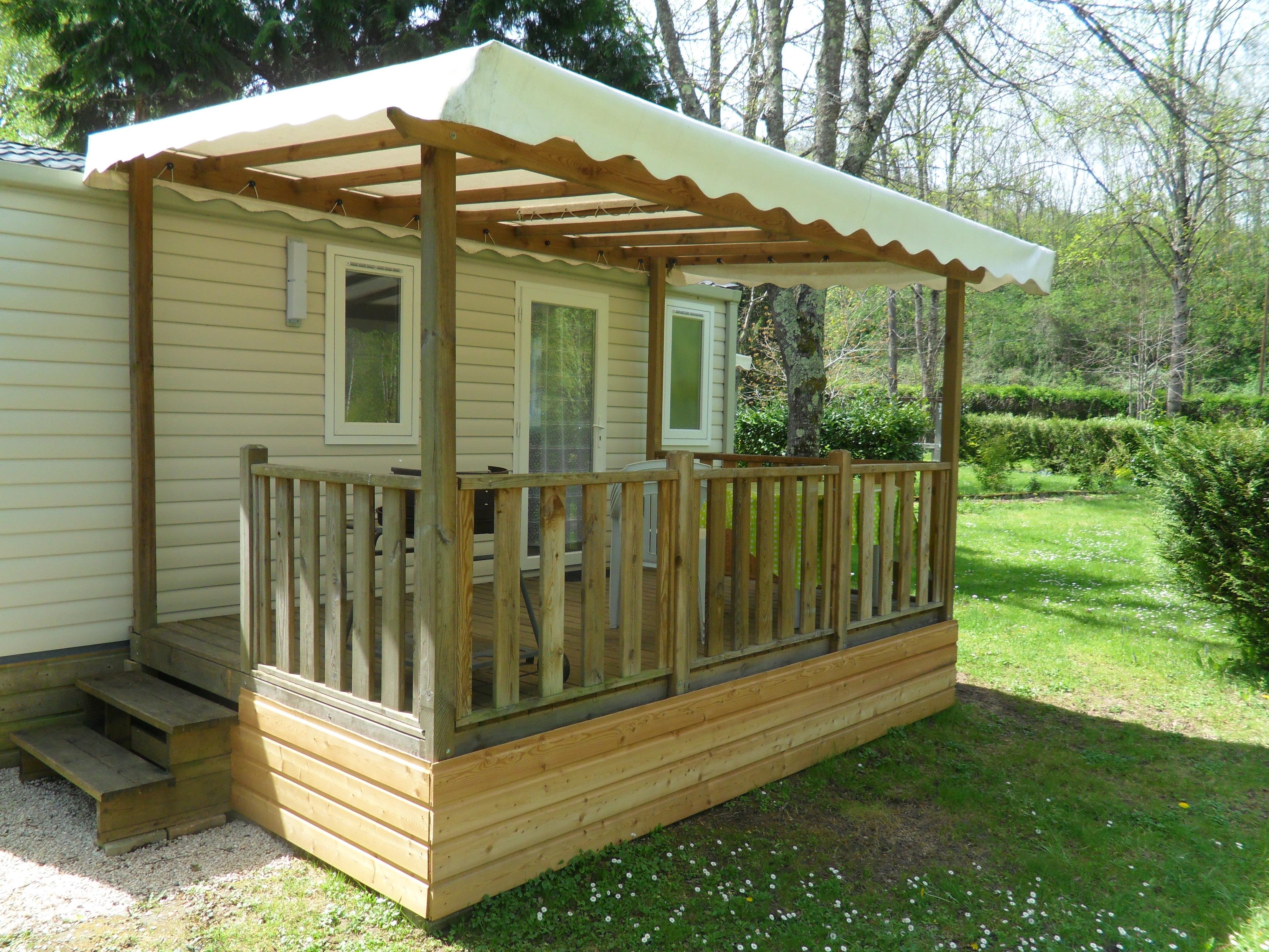 Location - Mobil-Home Confort Mirabat Avec Terrasse Couverte - Camping Le Haut Salat