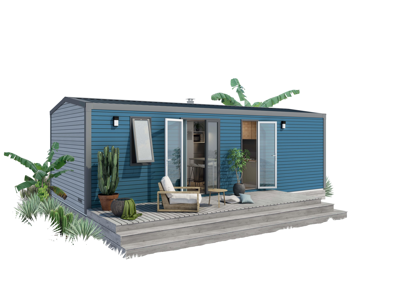 Location - Mobil-Home Prémium  Le Salat Avec Terrasse Couverte 6 Pers - Camping Le Haut Salat