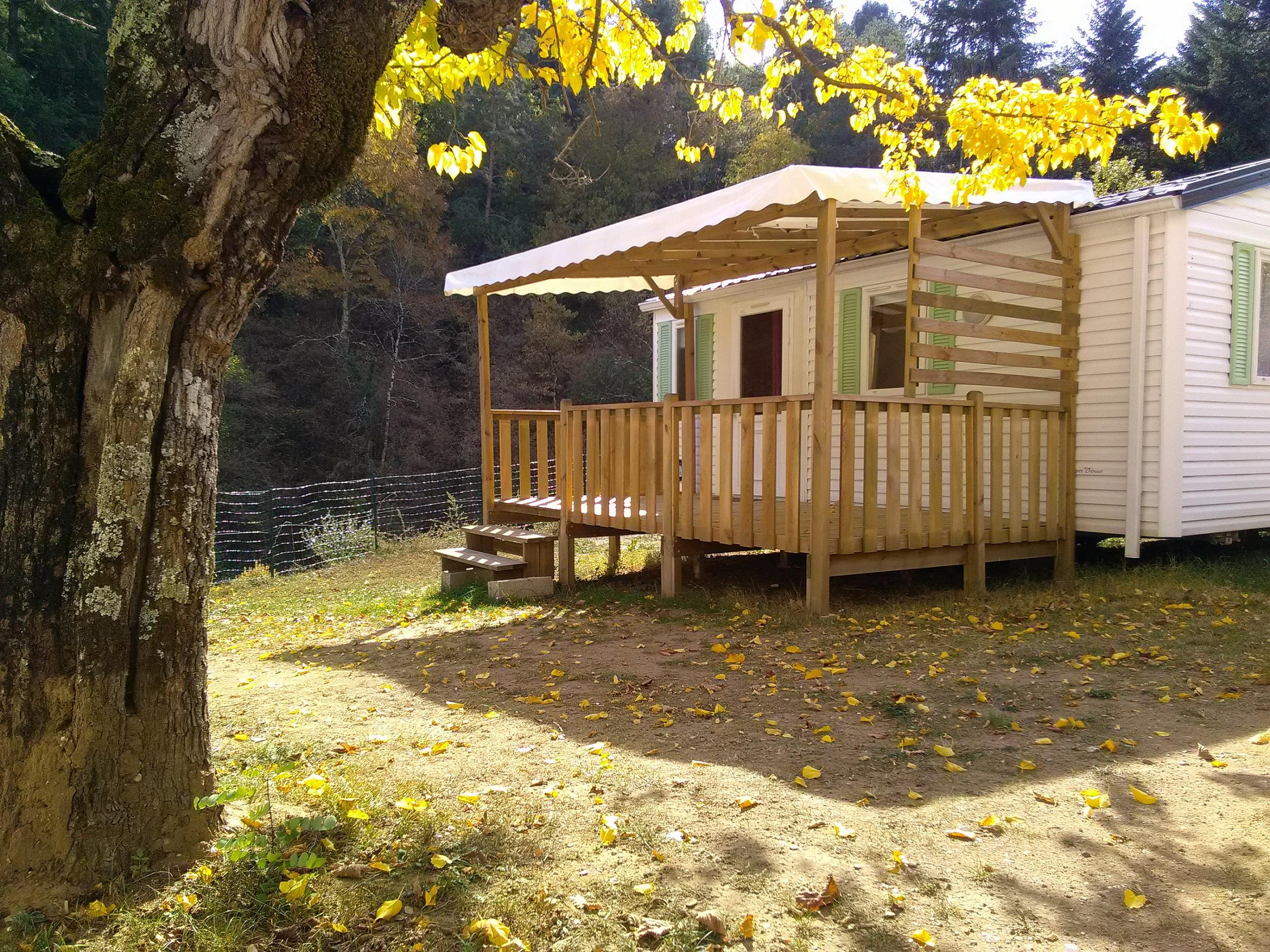 Accommodation - Mobil-Home 4 Places 24M2 (Two Rooms) - Camping Coeur d'Ardèche