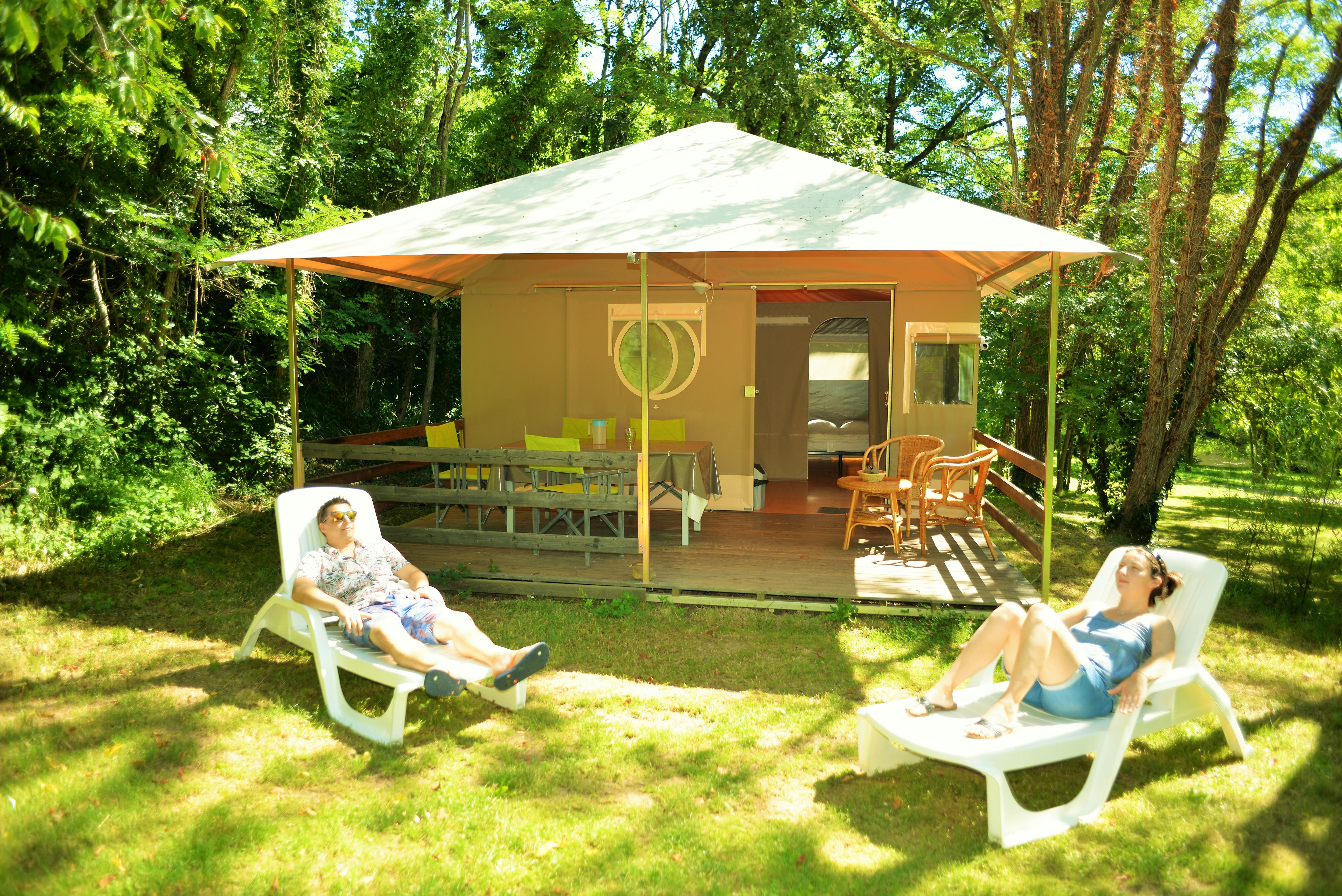 Accommodation - Grand Lodge 25M2 (2 Bedroom) - Camping Coeur d'Ardèche