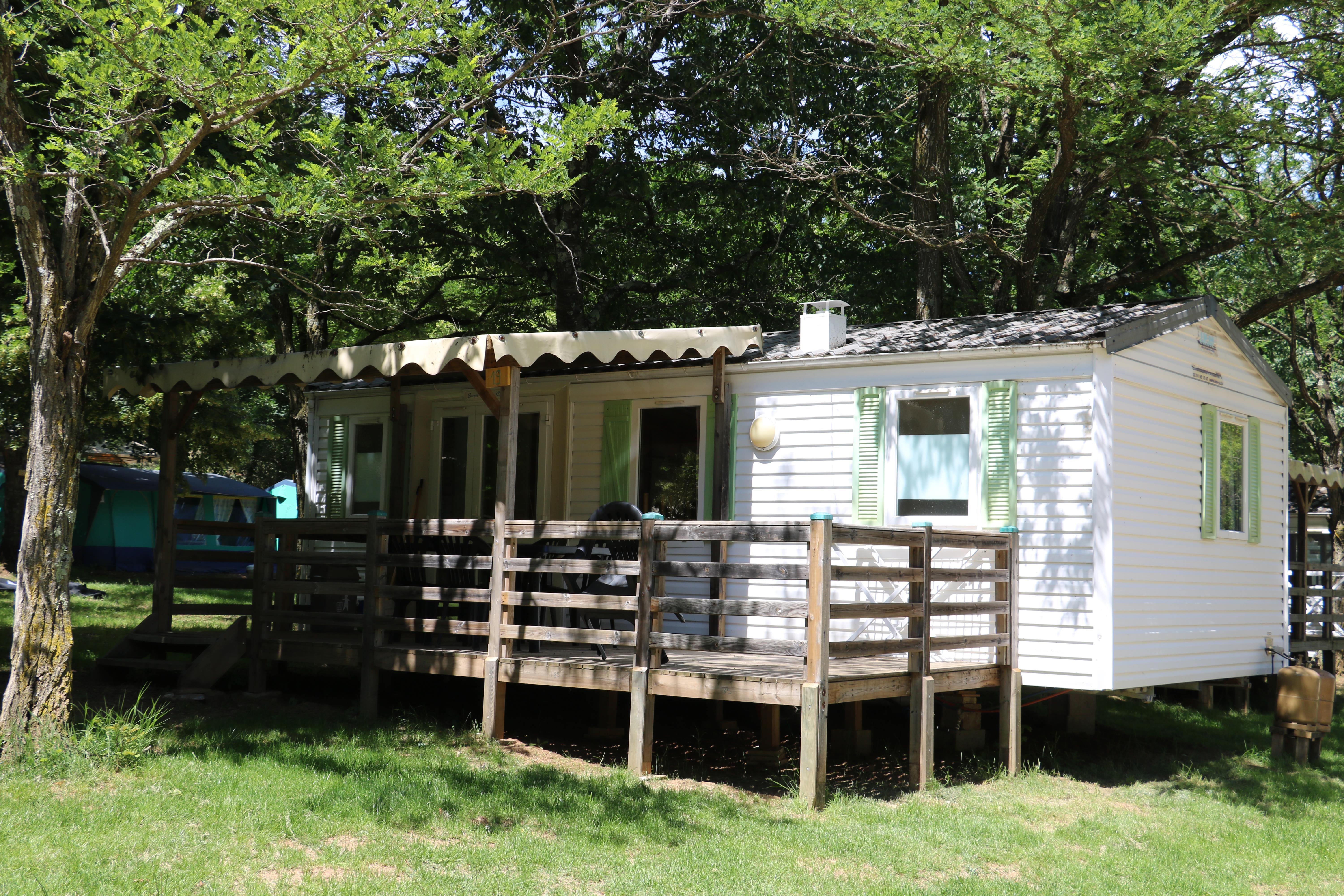 Accommodation - Mobi-Home 5/7 Places (Two Bedrooms And A Bench) - Camping Coeur d'Ardèche