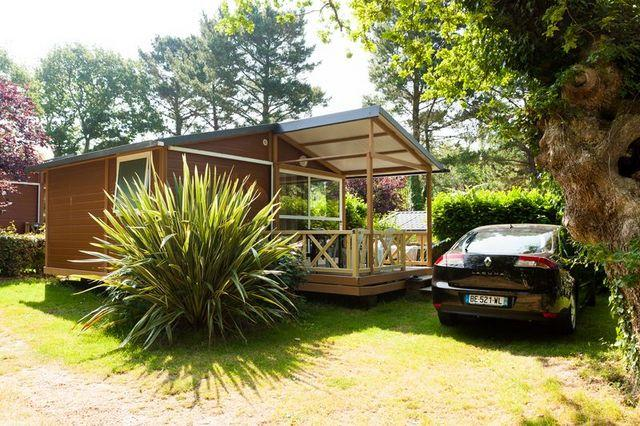 Location - Chalet Trianon N°2 - 27M² - 2 Chambres - Terrasse Couverte - - Camping de la Plage