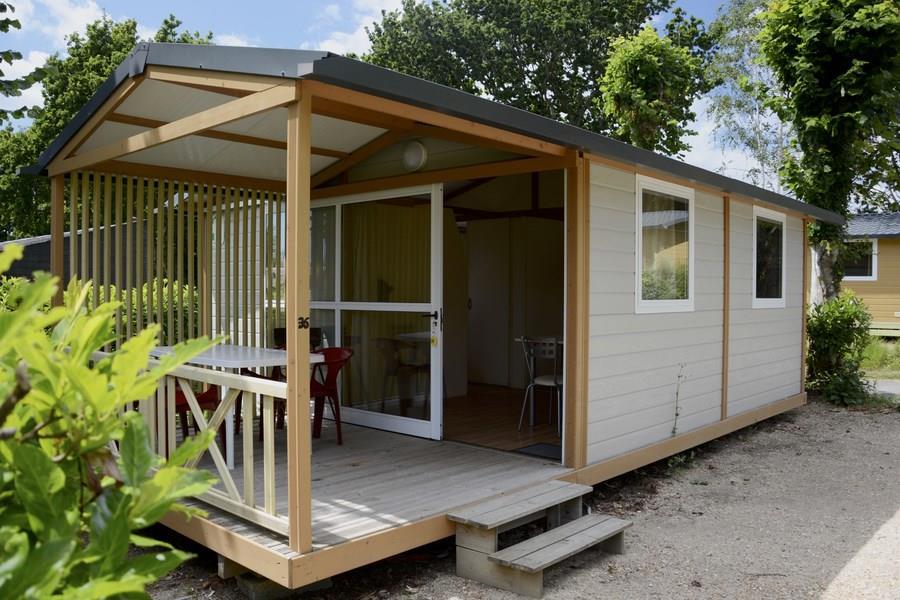 Location - Chalet Campeco - 24M² - 2 Chambres - 4 Pers - Terrasse Couverte - - Camping de la Plage