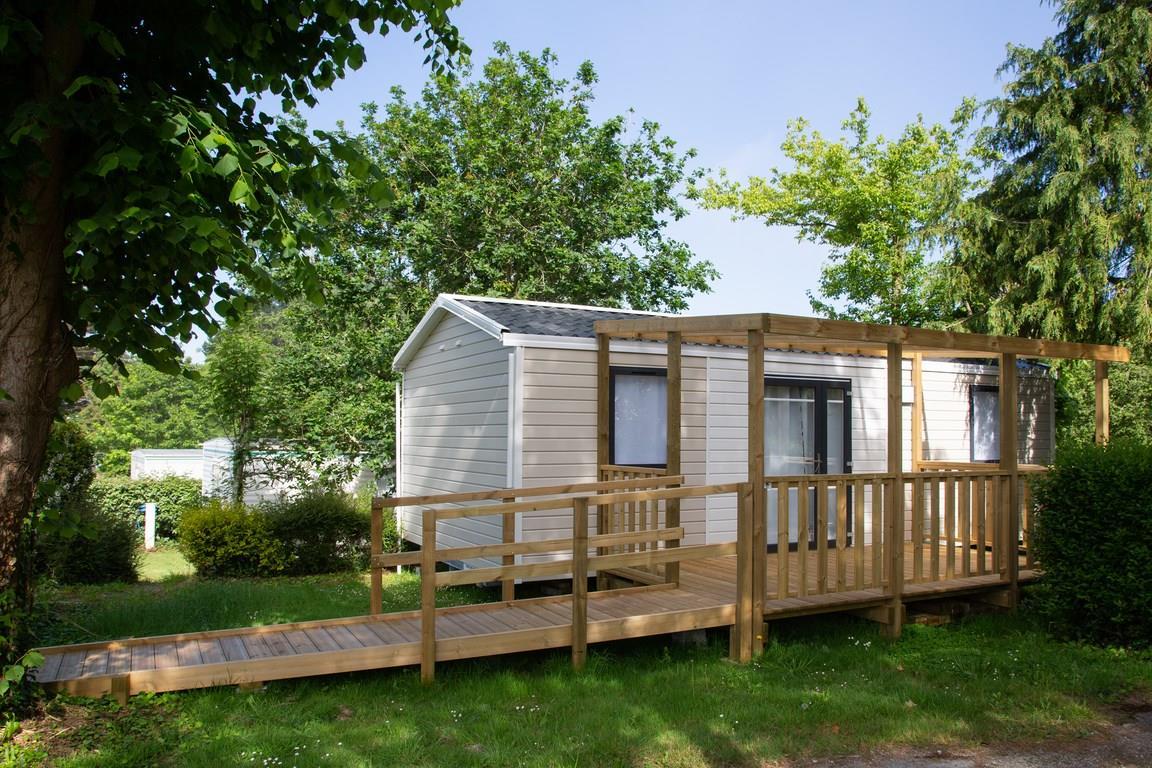 Location - Mobil-Home Pmr - 31M2 - 2 Chambres - Terrasse Couverte - (Mobil-Home Adapté Aux Personnes À Mobilité Réduite) - - Camping de la Plage