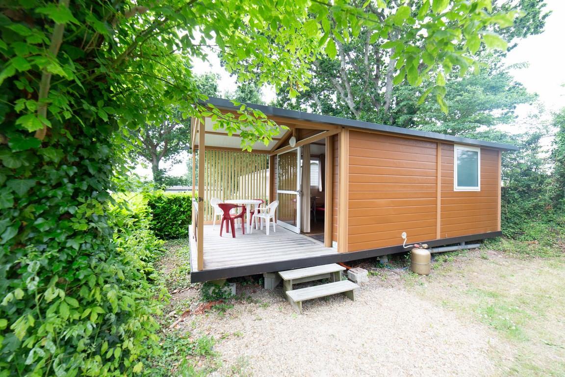 Location - Chalet Trianon N°1 - 20M² - 1 Chambre - Terrasse Couverte - - Camping de la Plage