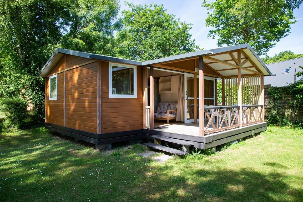 Location - Chalet Cottage - 40M² - 3 Chambres - Terrasse Couverte - - Camping de la Plage