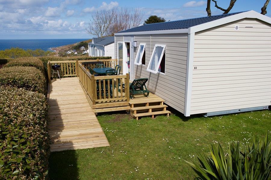 Location - Cottage Pmr – Adapté Pour Personnes À Mobilité Réduite 2 Chambres - 1 Salle De Bain - Camping L'Anse du Brick