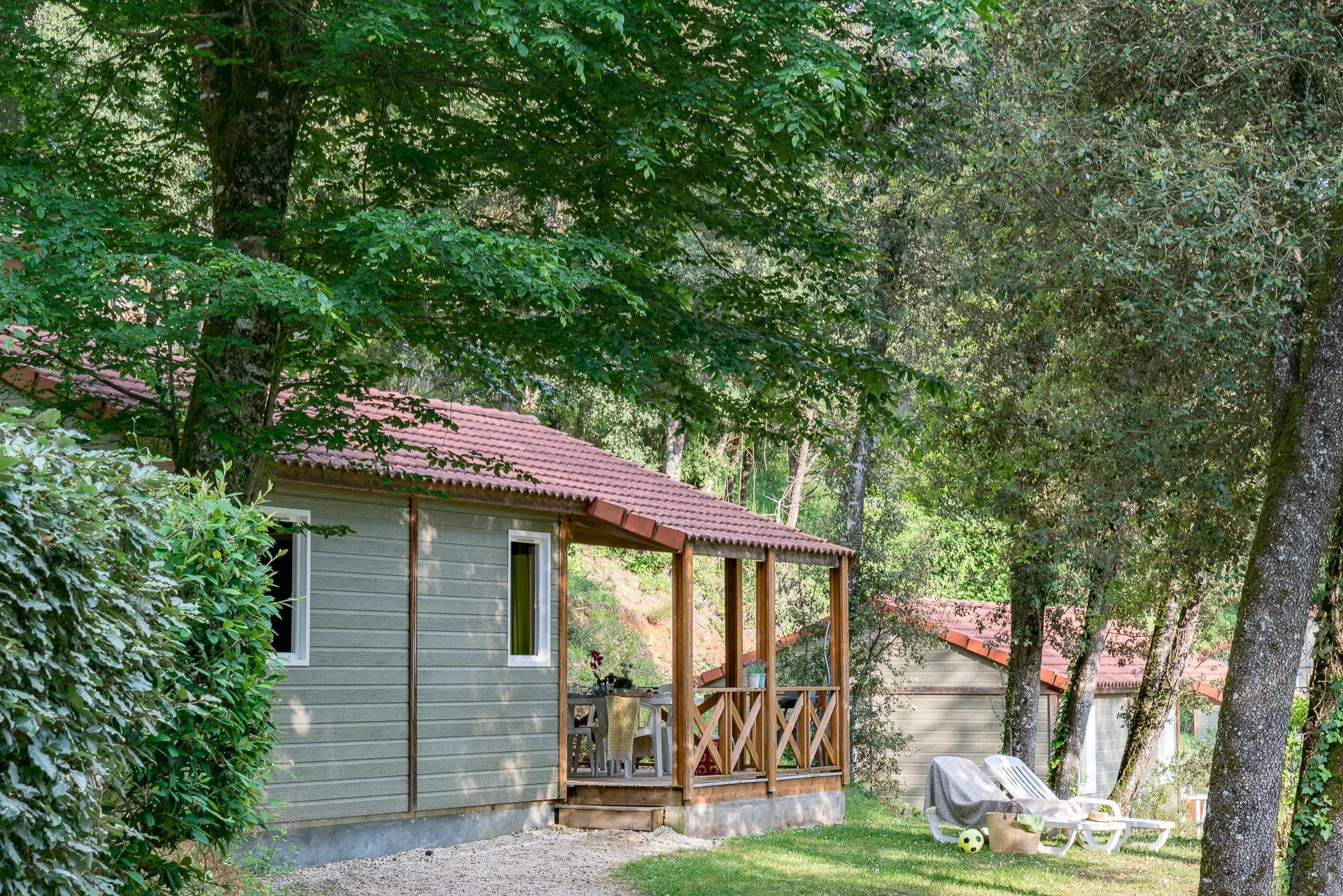 Location - Chalet 3 Chambres Clim **** - Camping Sandaya Les Péneyrals
