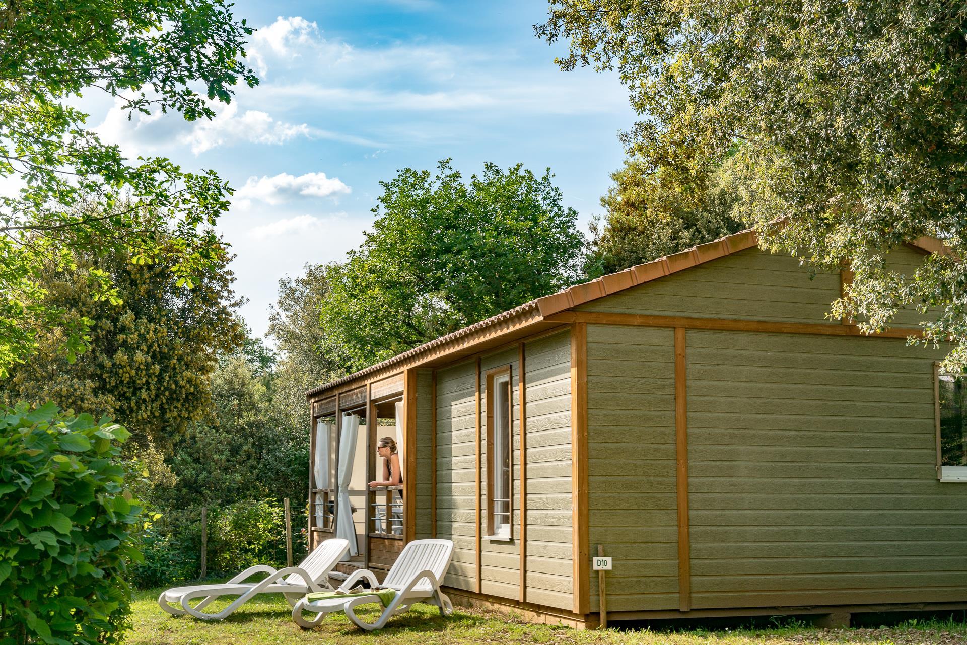 Location - Chalet Pivert 3 Chambres Climatisé Premium - Camping Sandaya Les Péneyrals