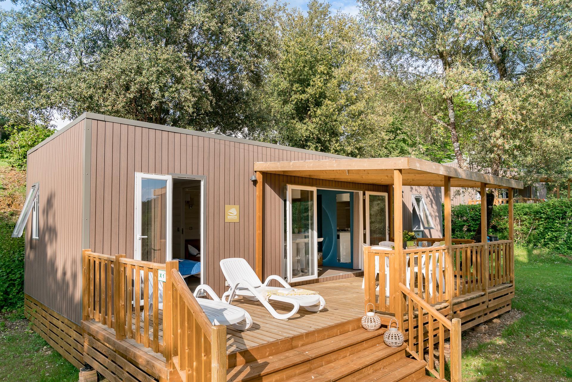 Location - Cottage Perigord 3 Chambres Clim Premium - Camping Sandaya Les Péneyrals