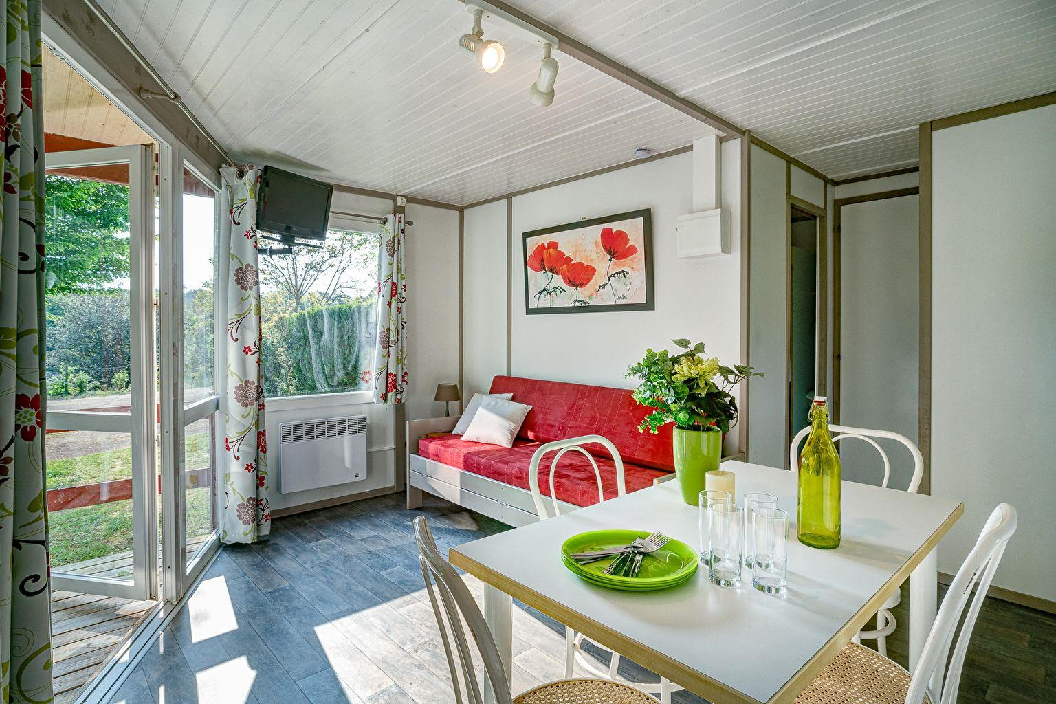 Location - Chalet Beynac 2 Chambres *** - Camping Sandaya Les Péneyrals