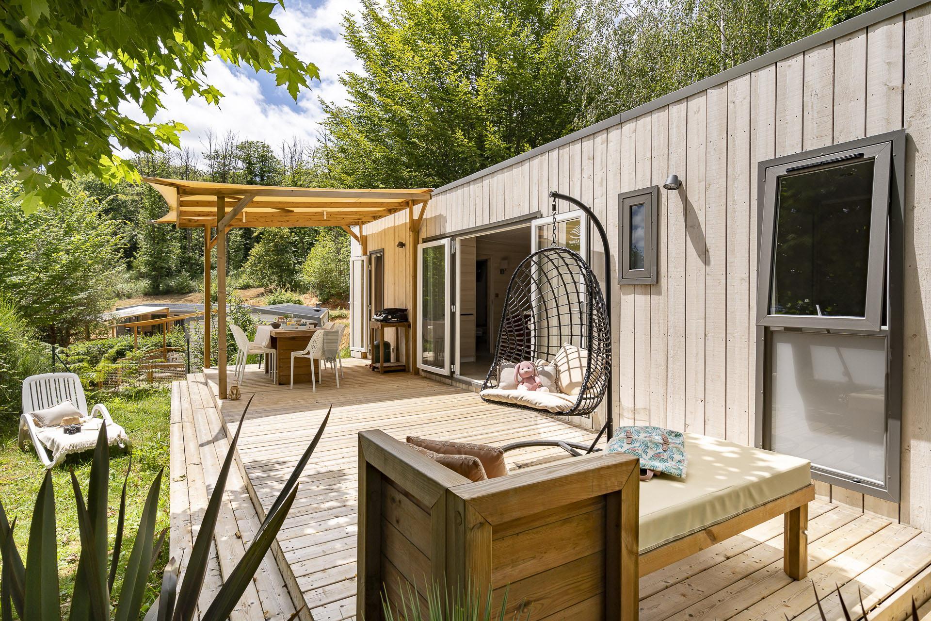 Location - Cottage 3 Chambres Clim Premium - Camping Sandaya Les Péneyrals