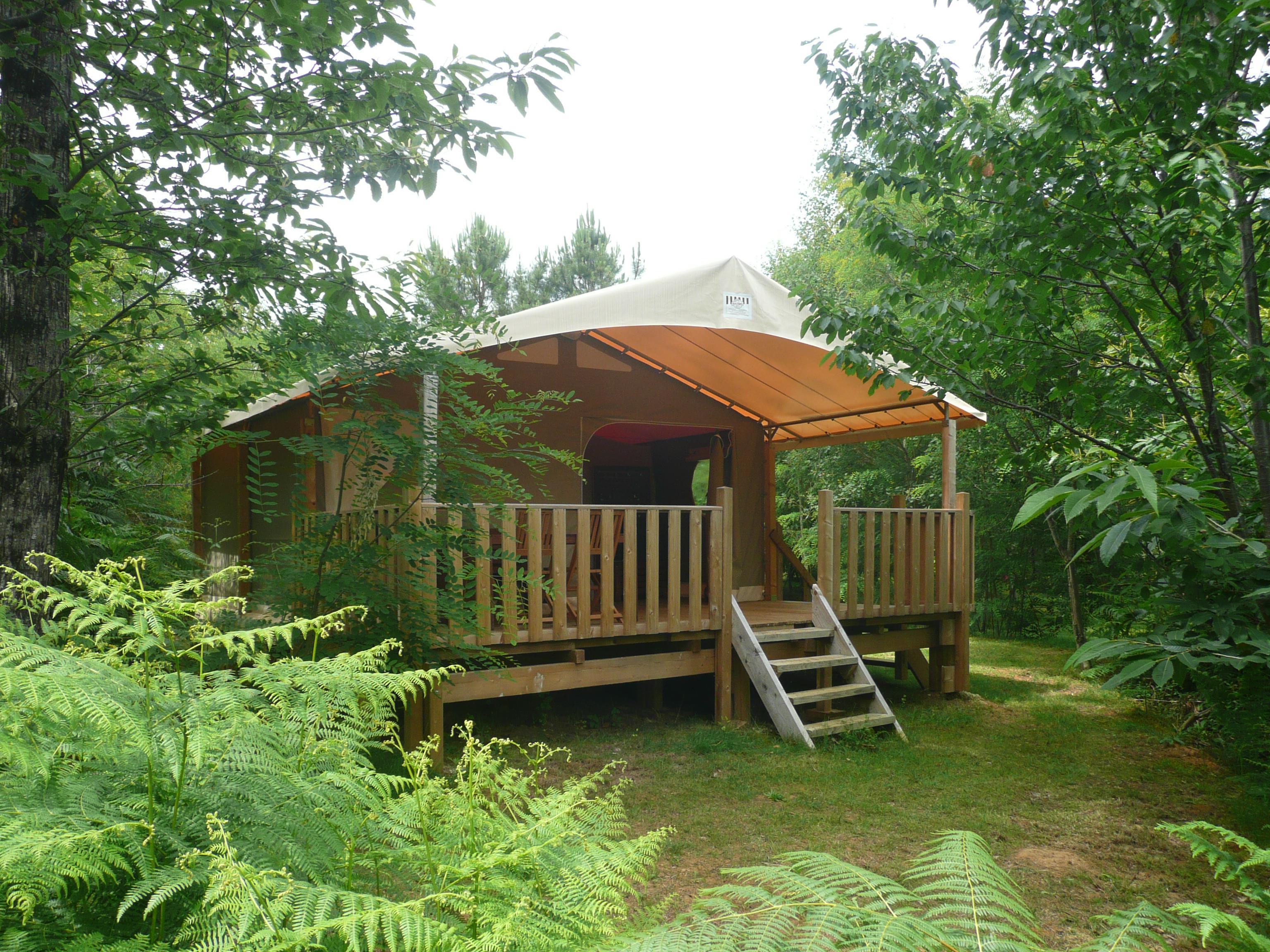 Location - Safari Lodge, 2 Chambres - Camping Les Charmes