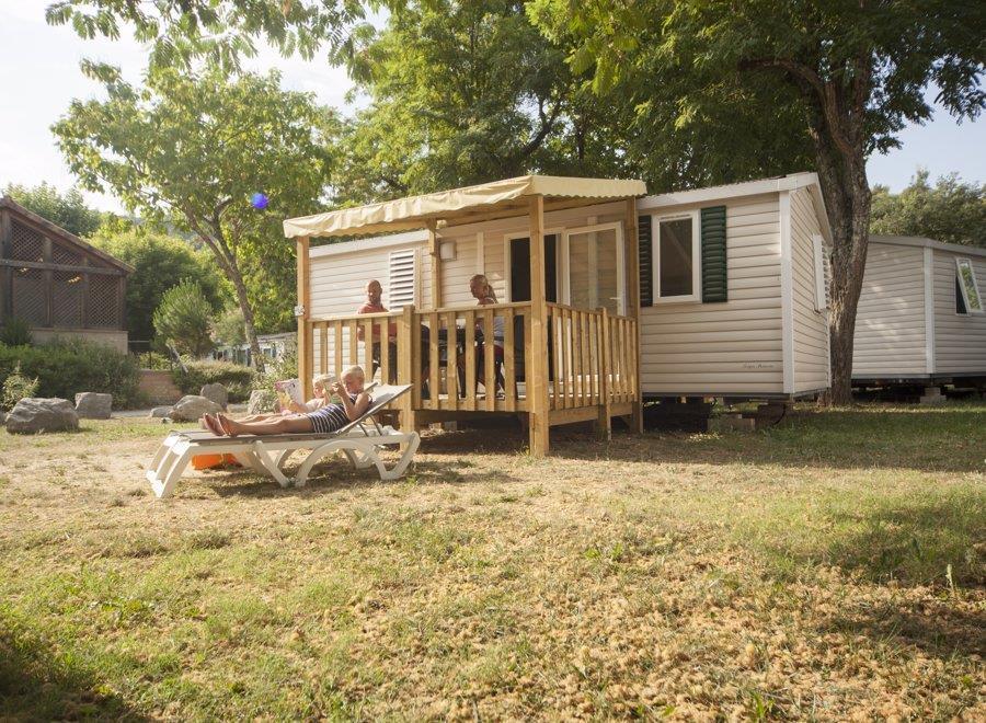 Location - Mobil Home – Type 4Lbv Pêcher - 2 Chambres - RCN Vakantiepark La Bastide en Ardèche