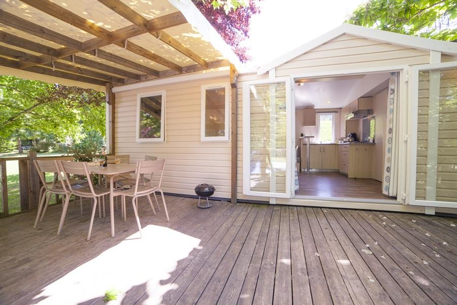 Location - Mobilhome Biron - 3 Chambres - RCN Vakantiepark Le Moulin de la Pique