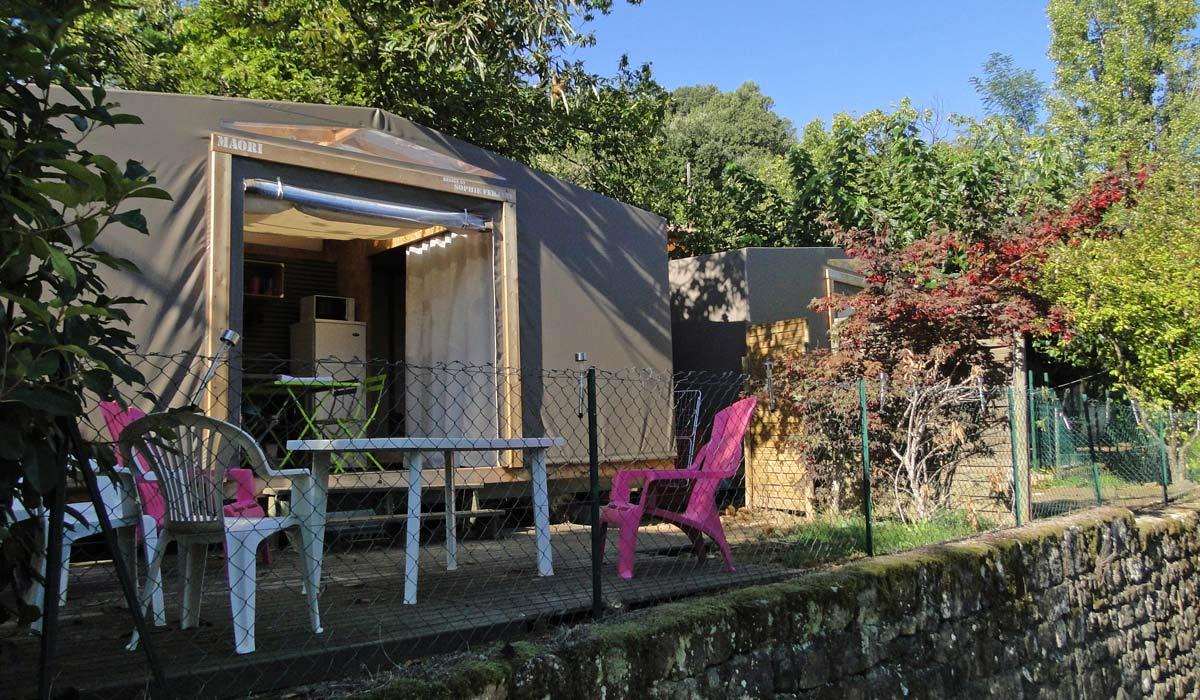 Huuraccommodatie - Mobil-Toilé Maori - CAMPING LES CHATAIGNIERS