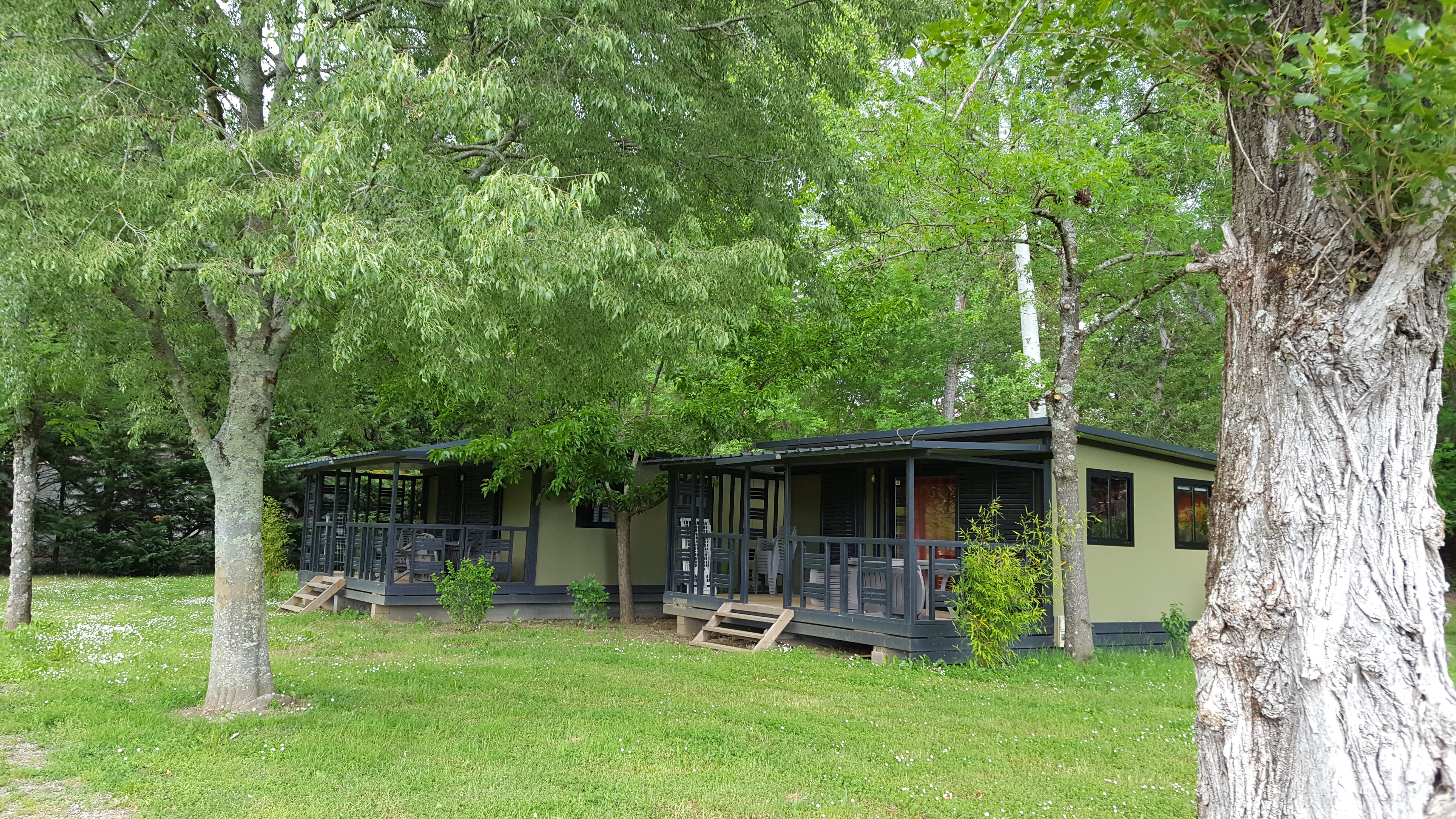 Accommodation - Chalet Confort 2 Bedrooms - Camping les Peupliers