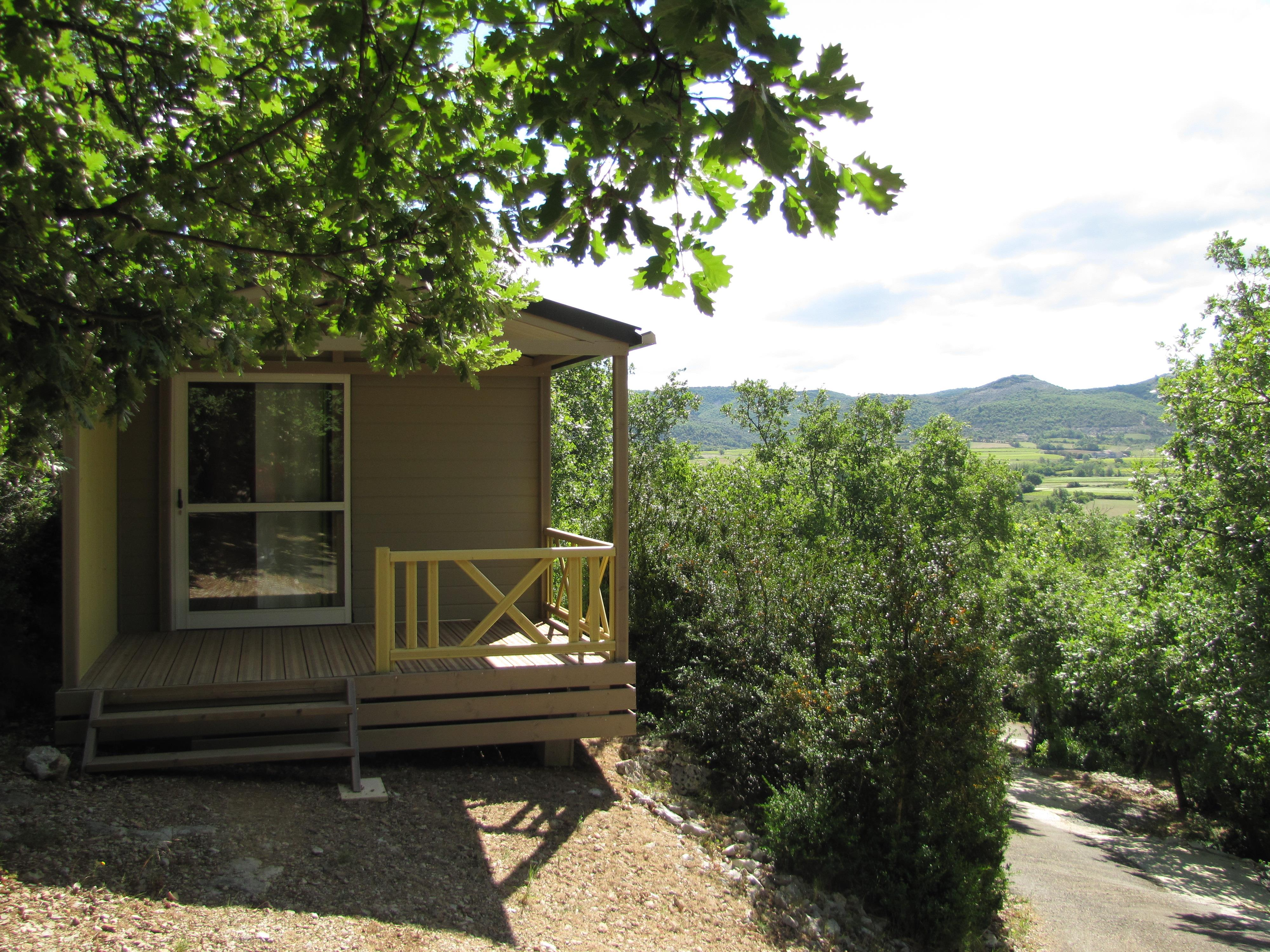 Location - Chalet Tonga 17 M2  2 Personnes - Camping Les Chênes Verts