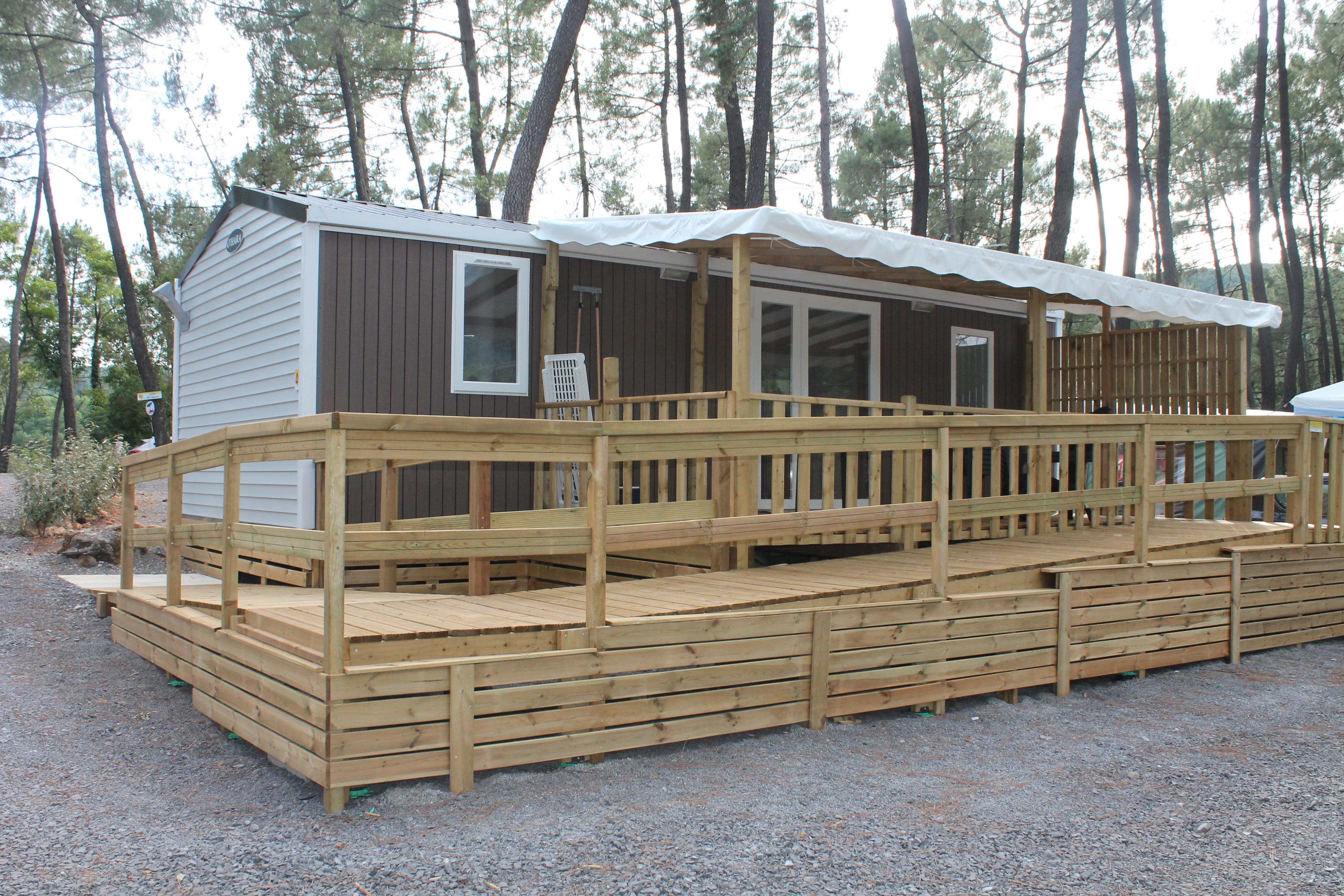 Huuraccommodatie - Chalet Chataignier - 2 Kamers - Camping Bois Simonet