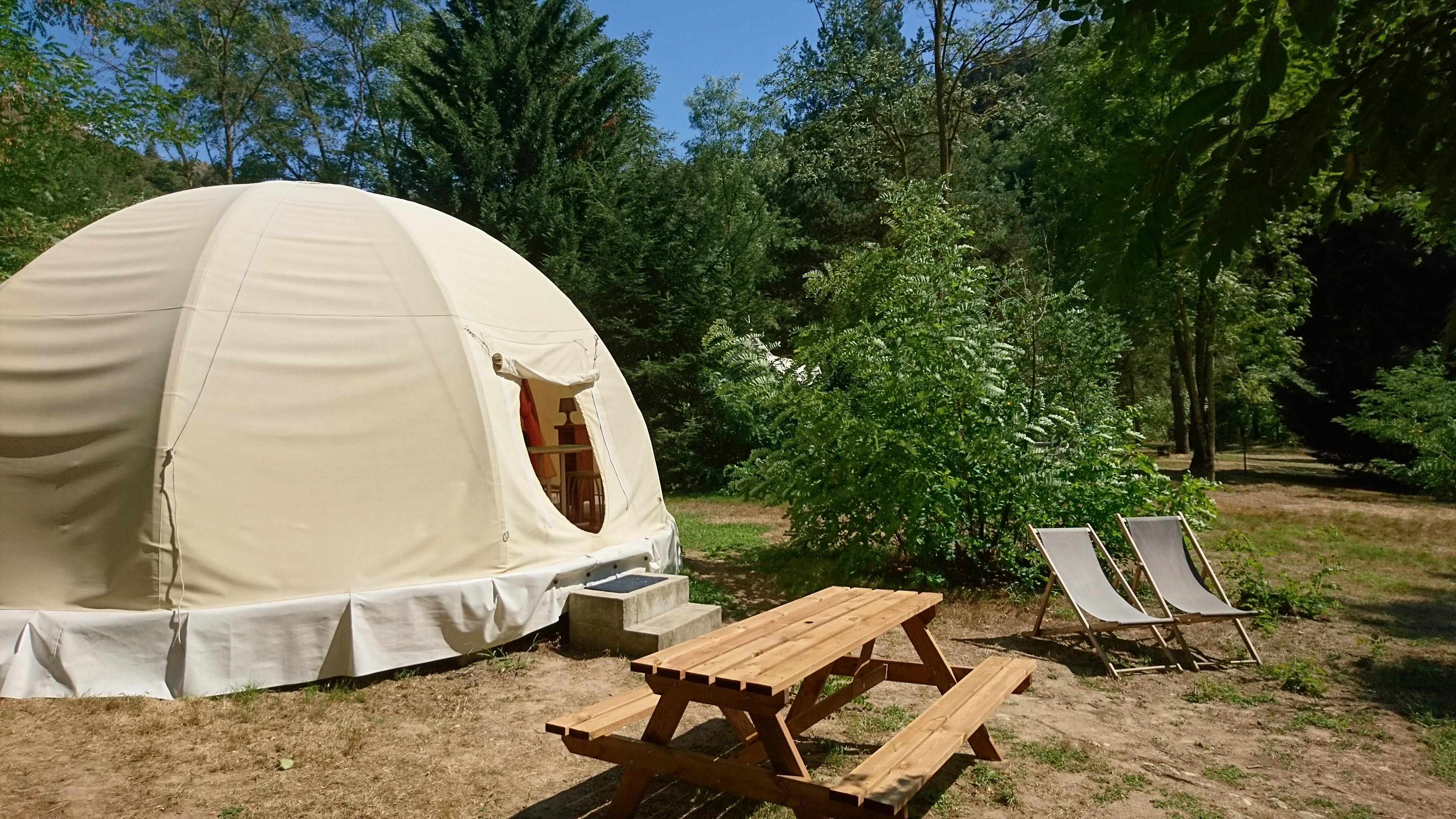 Location - Tente D'indien Wigwam - Camping Le Viaduc