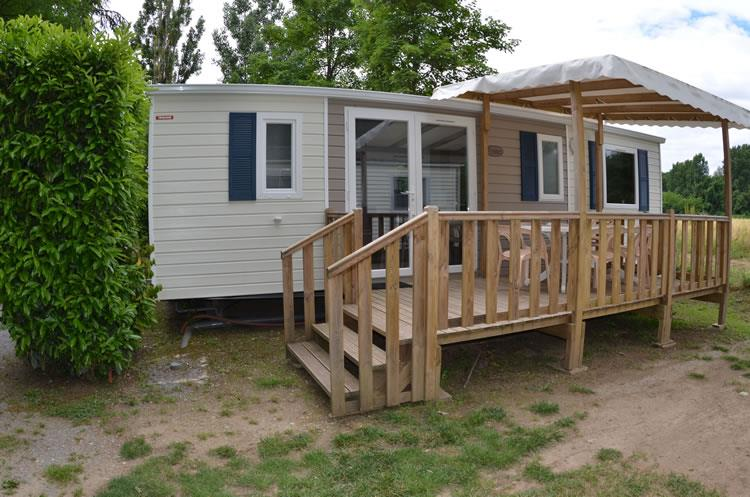 Accommodation - Mobile-Home 3 Bedrooms 32M² - Air-Conditioning - CAMPING LE CHASSEZAC