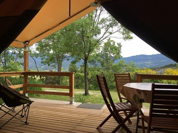 Accommodation - Tent Lodge - 2 Bedrooms (Without Toilet Blocks) - Camping Les Hauts de Rosans