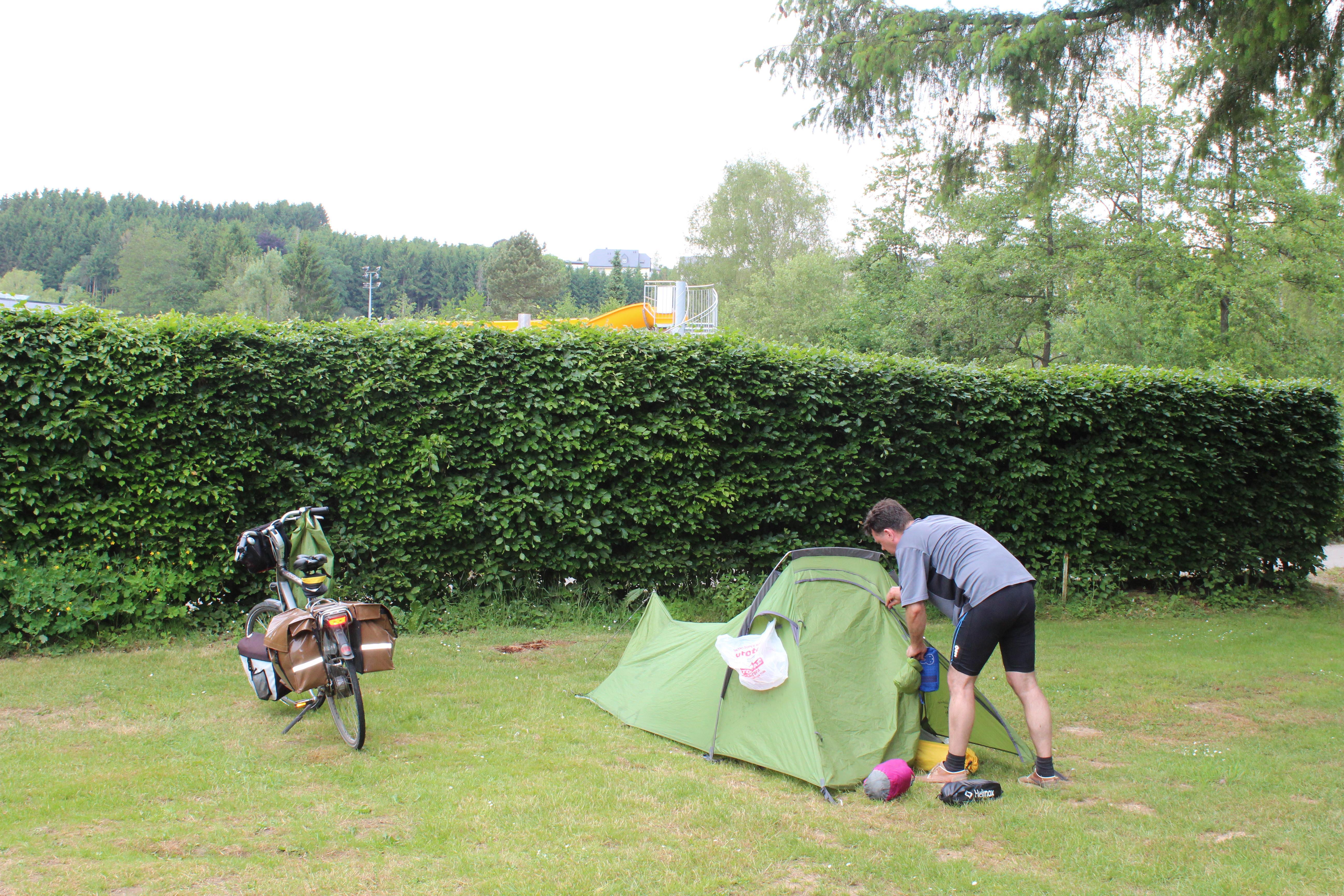 Emplacement Tente pour randonneurs,cyclistes et motocyclistes  incl. 1 pers.
