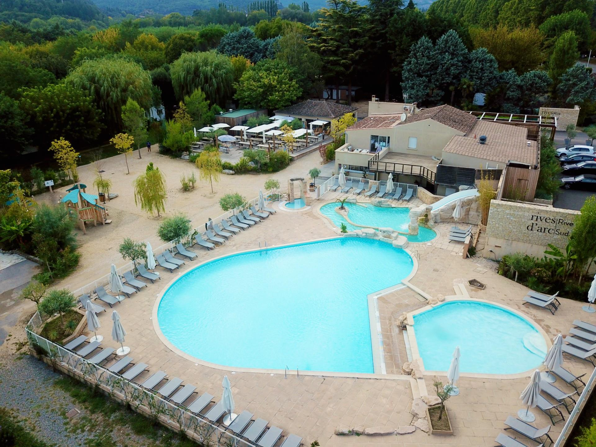 Baignade Camping Rives D'arc - Vallon Pont D'arc