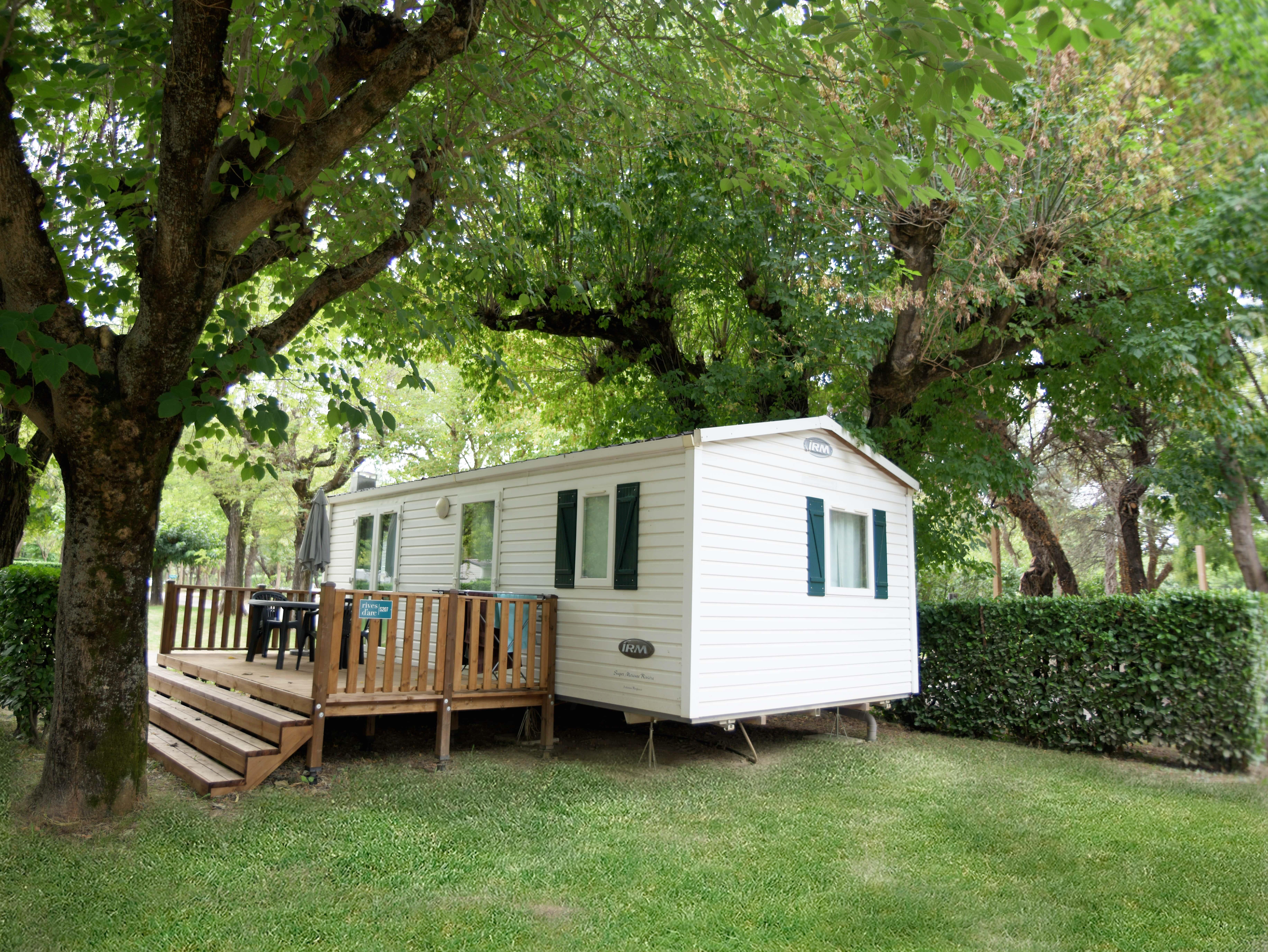 Accommodation - Our Classiques Mobile Home 32M² - Camping Rives d'Arc