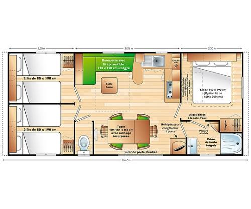 MOBILE HOME CLASSIQUE SUPERCORDELIA 3 CHAMBRES