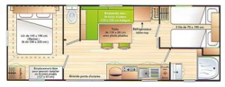 Location - Mobil-Home Grand Confort - Camping Les Cruses