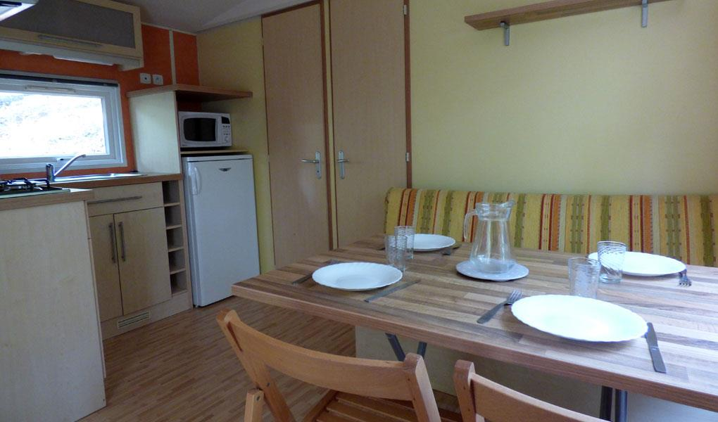 Accommodation - Mobile Home Loft 80 - Camping les Blaches Locations