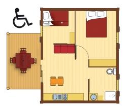 Location - Chalet Kirsh 35M² 2 Chambres - Camping Les Cerisiers du Jaur