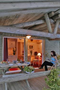 Location - Chalet Griotte 30M² 2 Chambres - Camping Les Cerisiers du Jaur