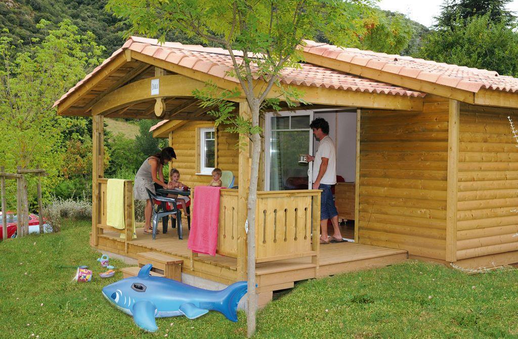 Location - Chalet Cherry 35M² 3 Chambres - Camping Les Cerisiers du Jaur