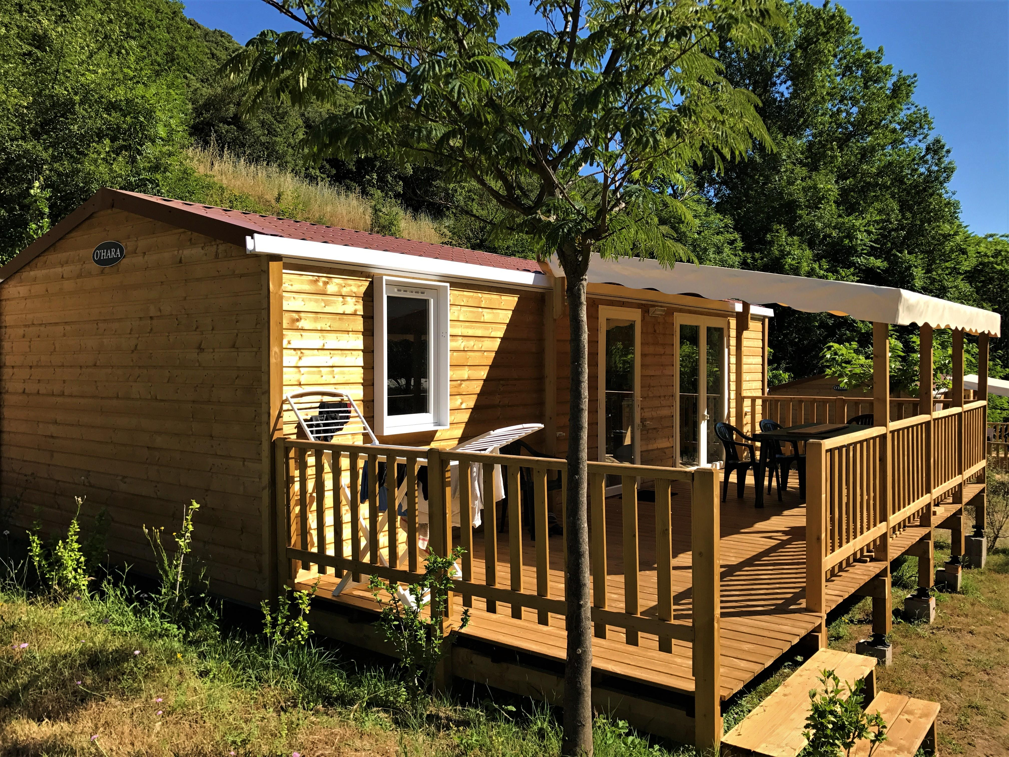Location - Cottage Amarena - 34 M² - 3 Chambres - Camping Les Cerisiers du Jaur