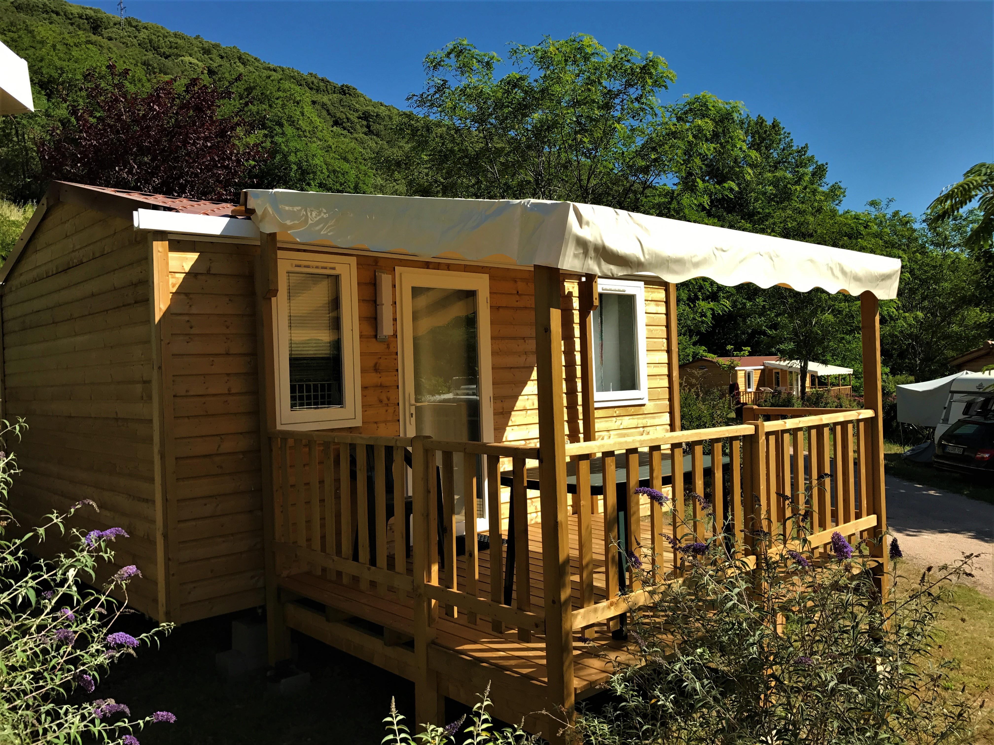 Location - Cottage Sweet - 18M² - 1 Chambre - - Camping Les Cerisiers du Jaur