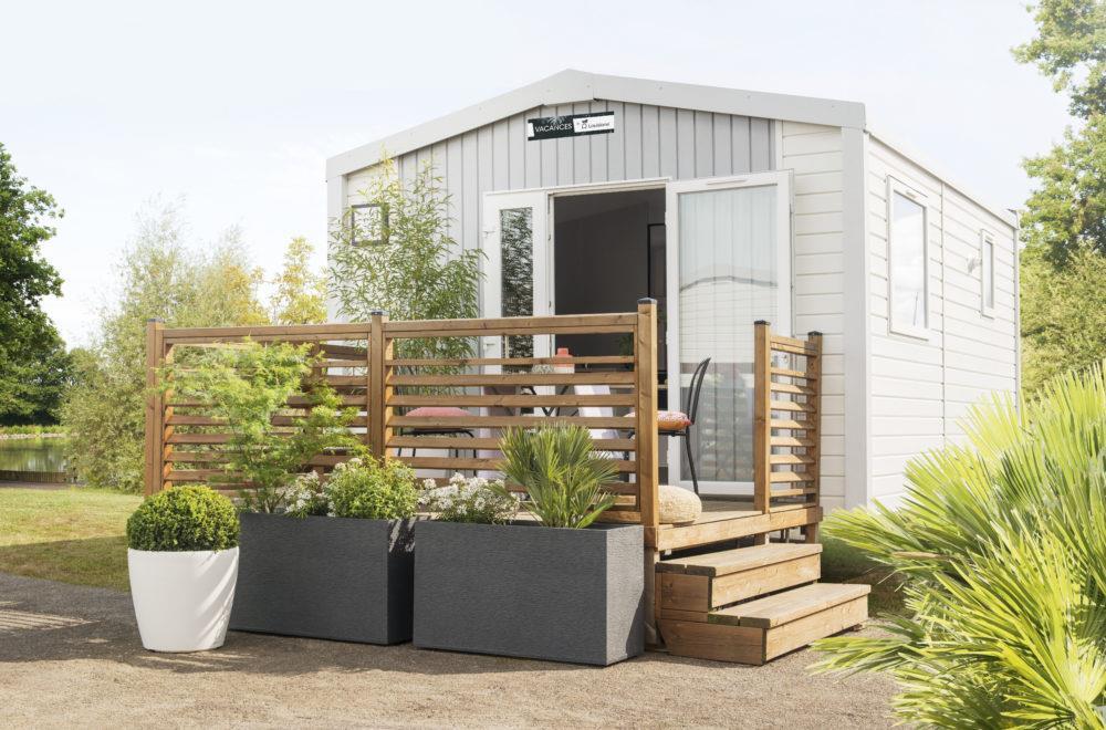 Location - Mobil-Home Confort 18M² 1 Chambre - Terrasse Couverte - Camping des Vallées
