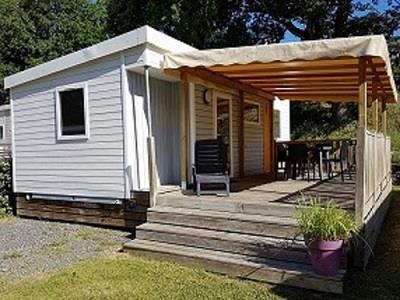 Location - Mobil-Home Premium 29M² - 2 Chambres + Terrasse Couverte + Lave-Vaisselle - Camping des Vallées