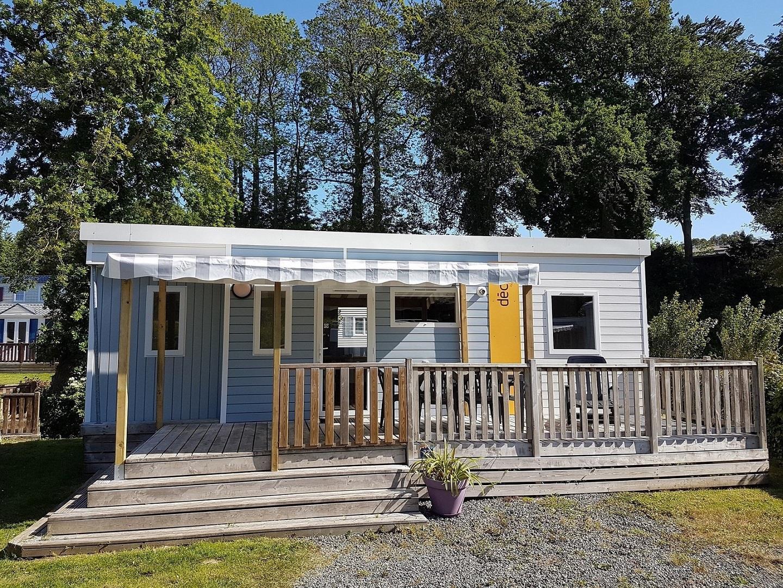 Location - Mobil-Home Confort 31M² - 3 Chambres Avec Terrasse Couverte - Camping des Vallées