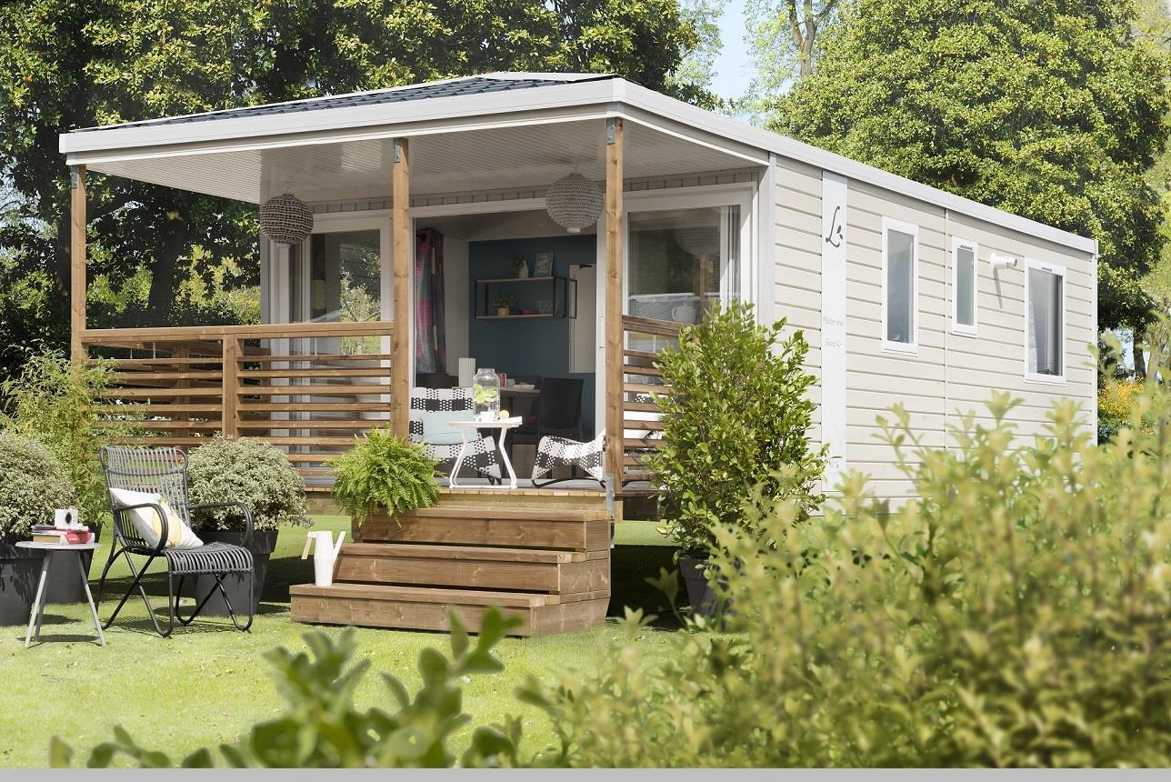 Location - Mobil-Home Premium 26M² 2 Chambres - Terrasse Couverte + Lave-Vaisselle - Camping des Vallées
