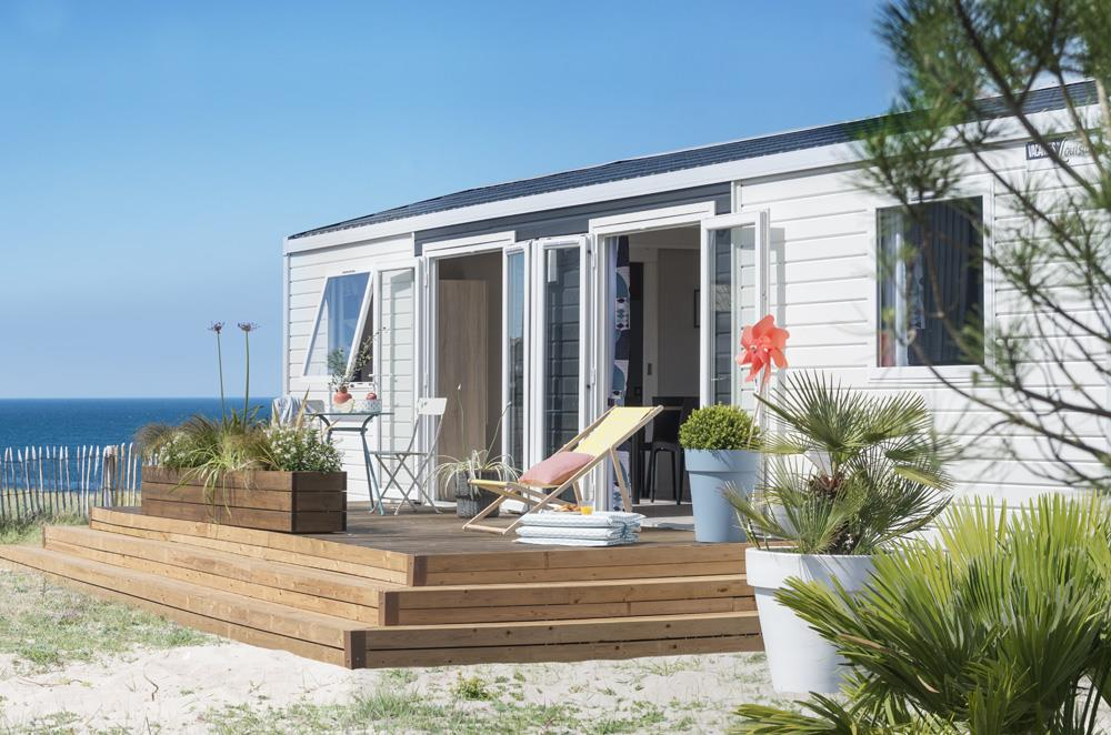 Location - Mobil-Home Premium 40M² - 4 Chambres Avec Terrasse Couverte - Camping des Vallées