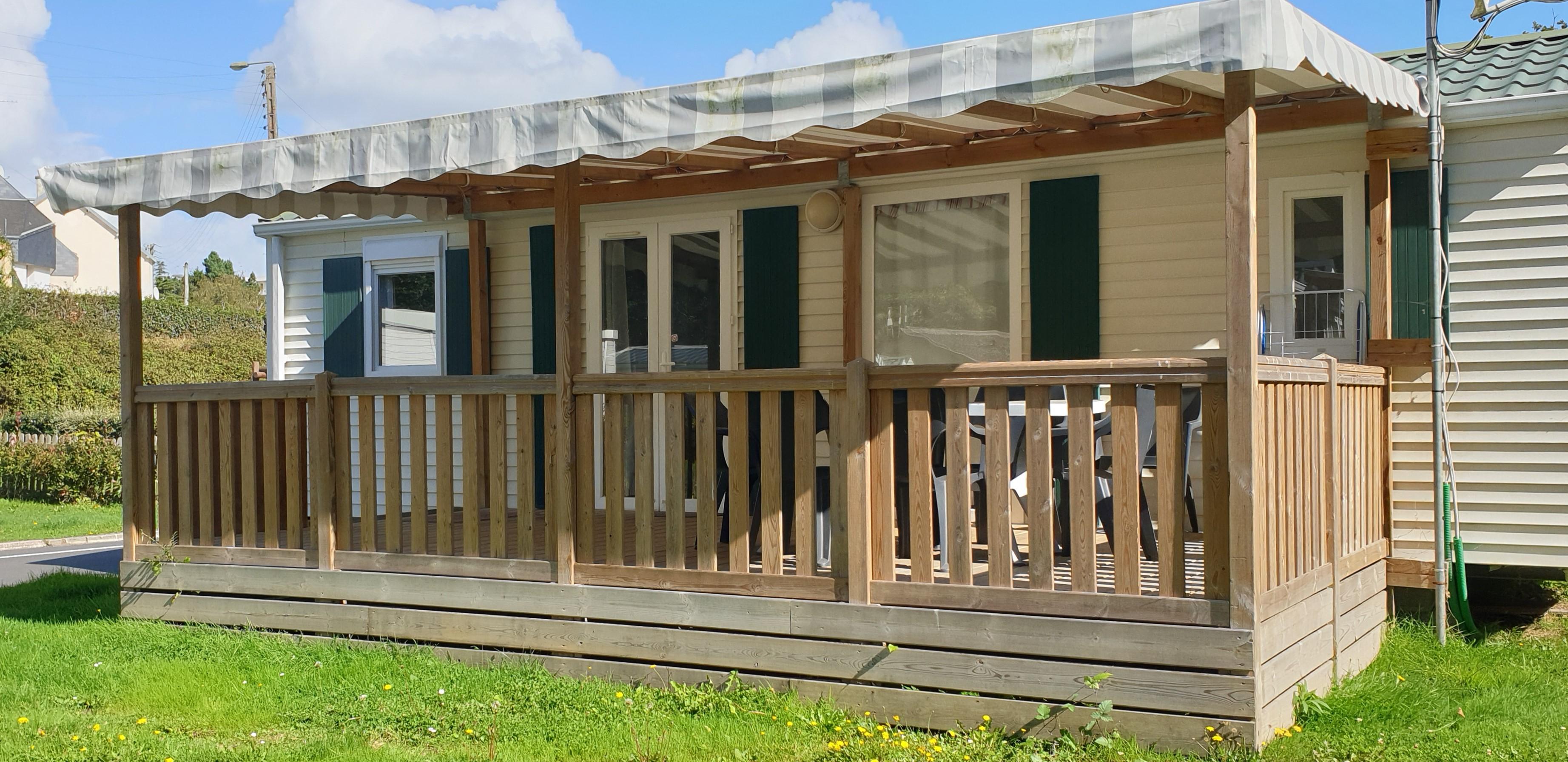 Location - Mobil-Home Confort 35M² -  3 Chambres - 6/8 Personnes  Avec Terrasse Couverte - Camping des Vallées