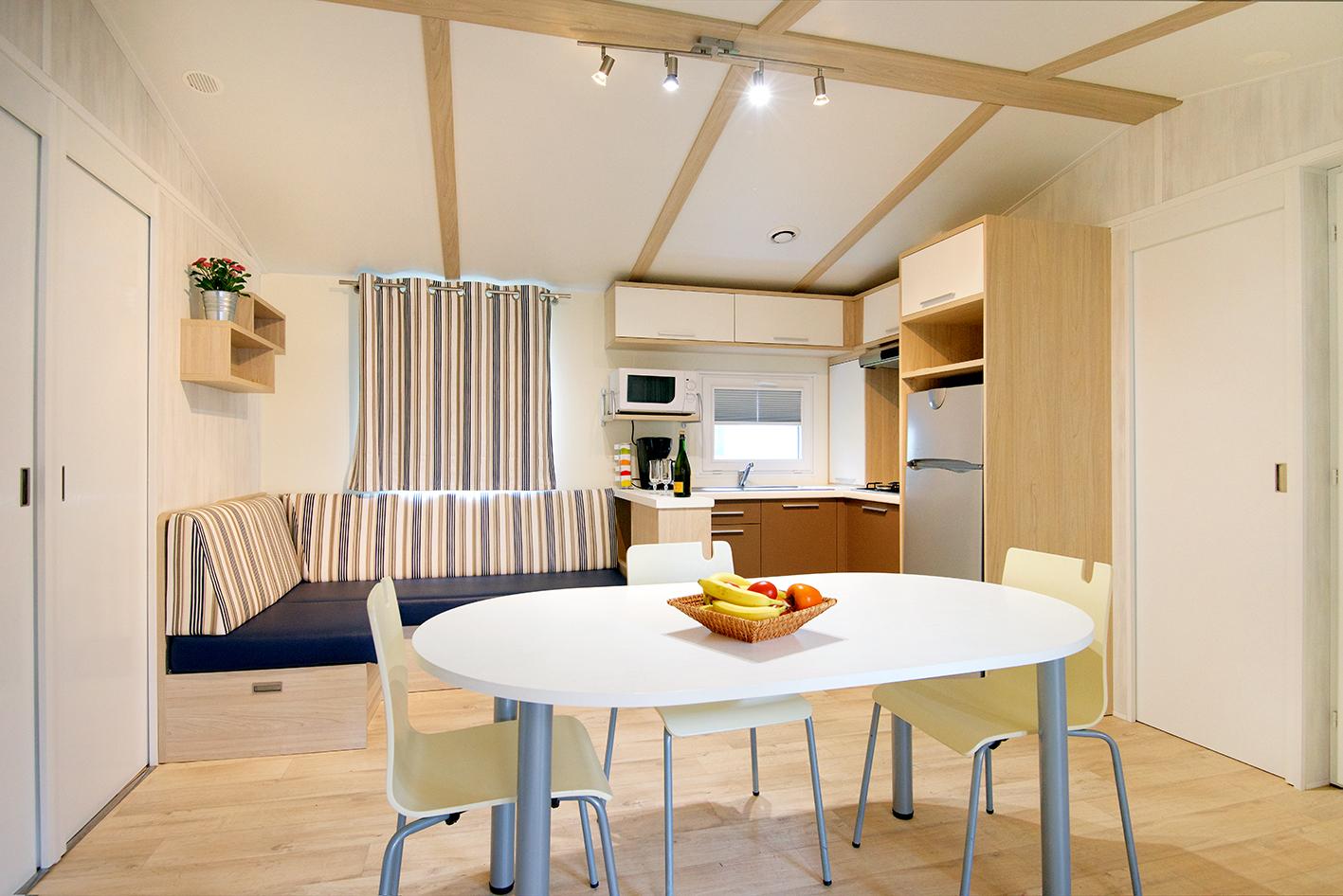 Location - Mobil-Home Premium 35M² - 3Ch/6Pers Avec Terrasse Couverte - Camping des Vallées