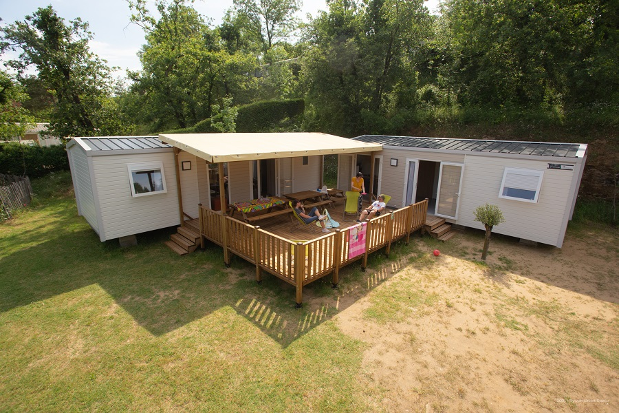 Mobil Home Tribe, 6 bedrooms 70m² baby special, air-conditioning, covered terrace