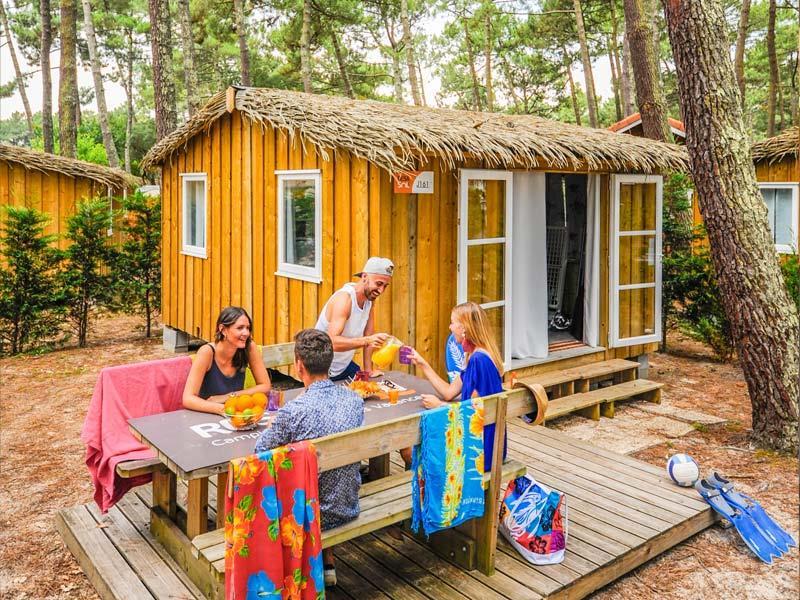 Location - Cabane Bois - Camping Le Vieux Port