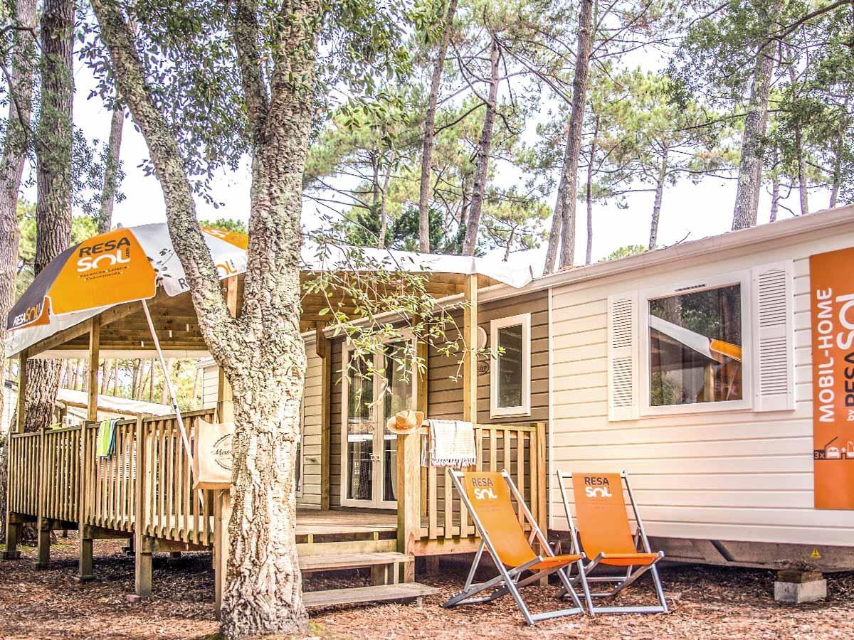 Location - Mobil-Home Resasol 3 Chambres - 2 Salles De Bains - Camping Le Vieux Port