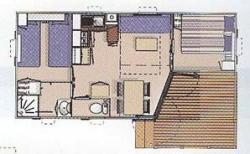 Location - Mobil-Home O'hara Avec Terrasse Couverte - Camping Le Tiradou